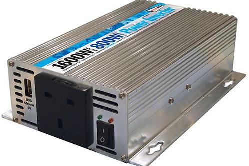 800W Inverter Car mains 12v TO 240V mains 1600W peak power adapter camper van