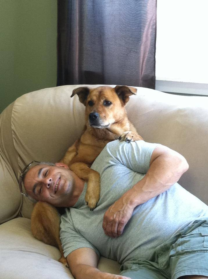 Our customer Greg and his pup, Sheba