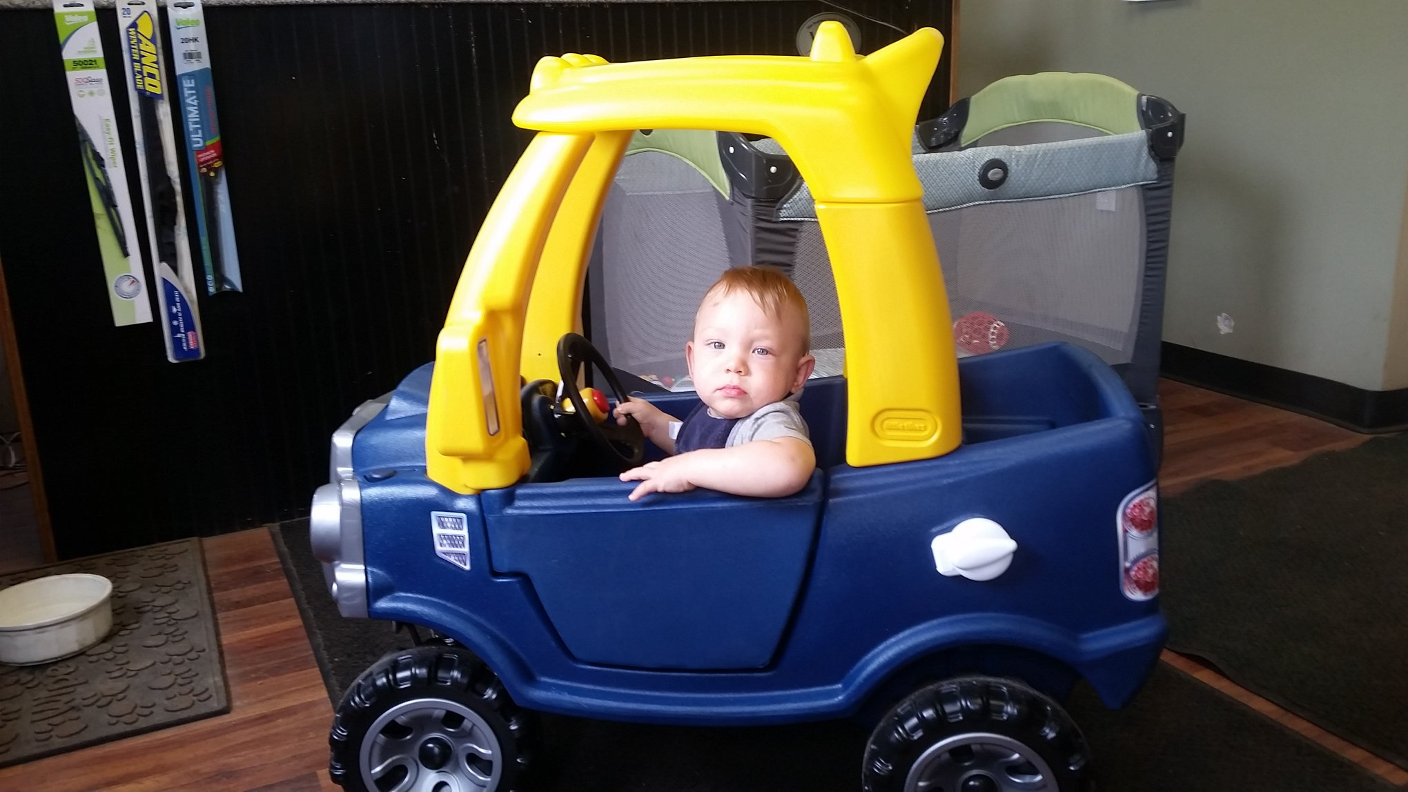 Ryan's first car! Gotta start 'em young :)