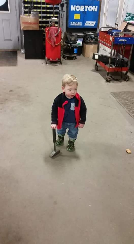 Ryan helping in the shop!