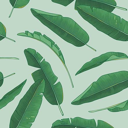 Les feuilles vertes sur le vert