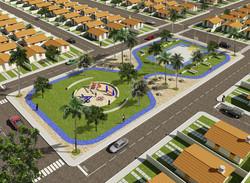 Vista aérea do residencial