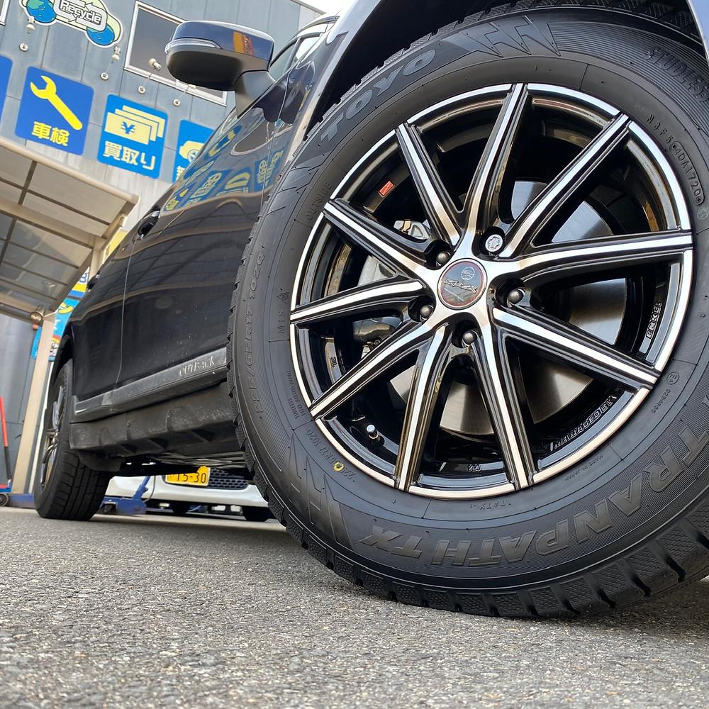 スバル アウトバック BS 共豊コーポレーション スマック ヴァニッシュ トーヨータイヤ ウィンタートランパス TX SUBARU SUV 17インチ 7J