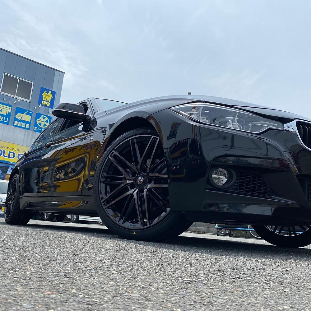 BMW 3series F30 crimson clublinea cassano ff 19インチ 8.5J ファルケン