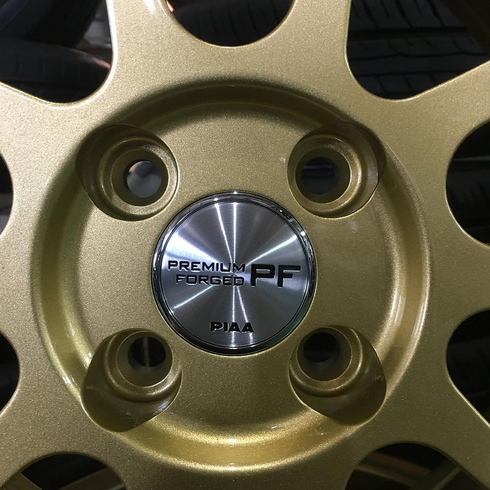 PIAA PREMIUMFORGED F102 ピア プレミアムフォージド 16インチ 鍛造 ゴールド コンパクトカー