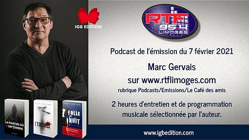 Pub réseaux podcast Marc Gervais_RTF Lim