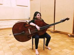 Melinda Rose & her bass