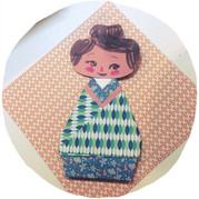 #NovembreEnOrigami || Kokeshi paper doll