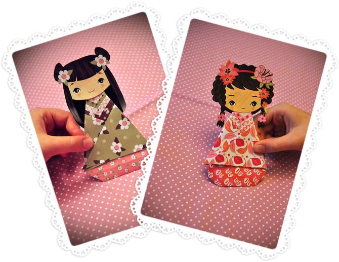 Kokeshi paper doll
