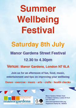 Summer Wellbeing Festival poster pic