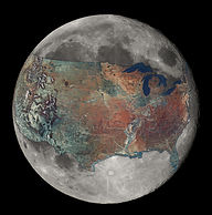USA on the Moon