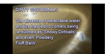 Dirty snowballs? really? crazy