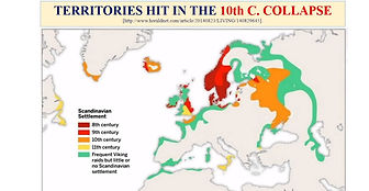 territories hit in the 10th c. collapse