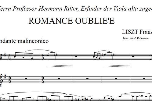 F. Liszt - Romance Oubliee