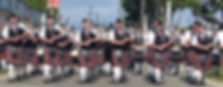 Los Angeles Scots Pipeband competing