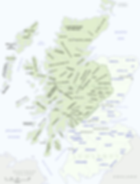 Map of Scottish clans
