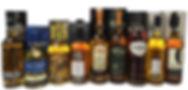 Bottles of Scotch whisky
