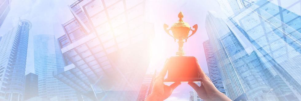 Awards held aloft