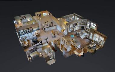 Las Vegas 3D virtual tour dollhouse view