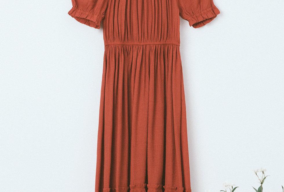 Brick Tiered Dress