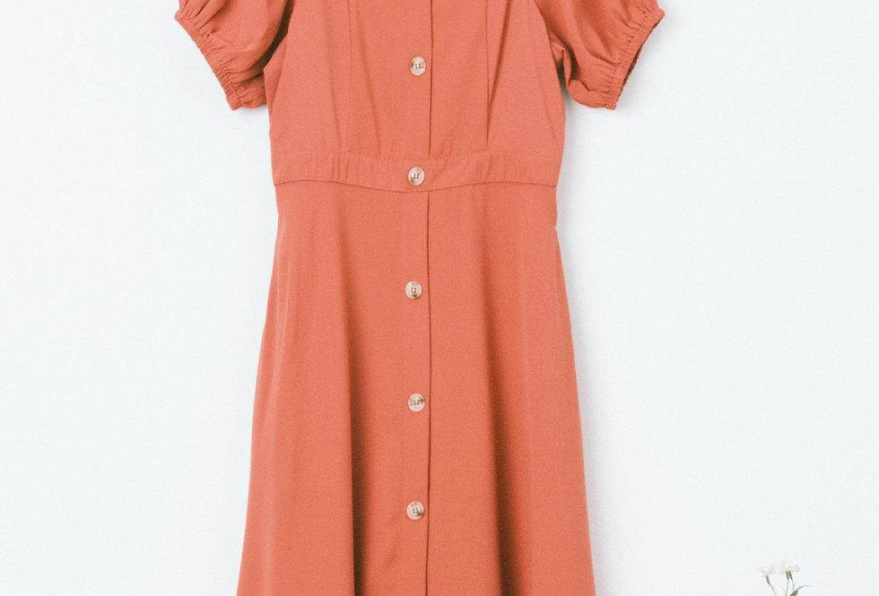 Pink Button Through Dress