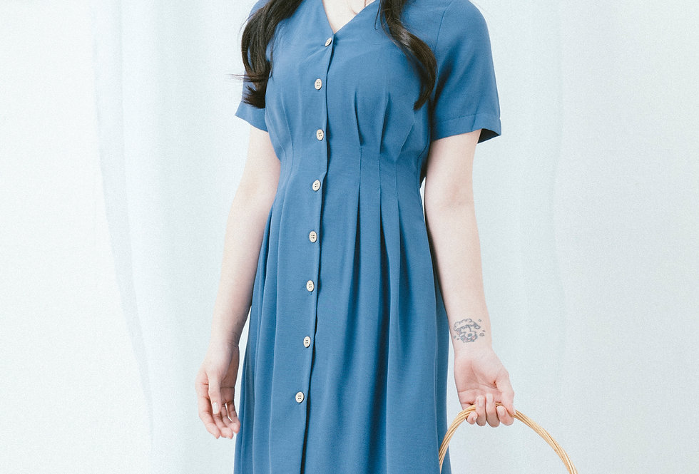 Blue Shirt Waist Dress