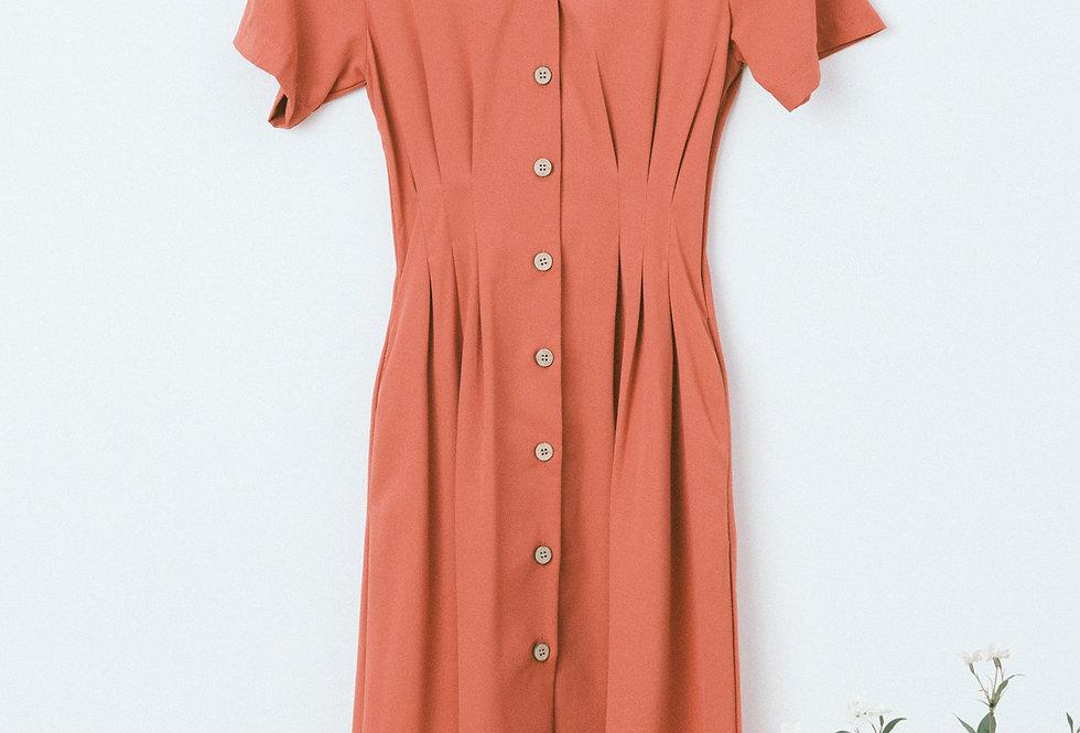 Brick Shirt Waist Dress