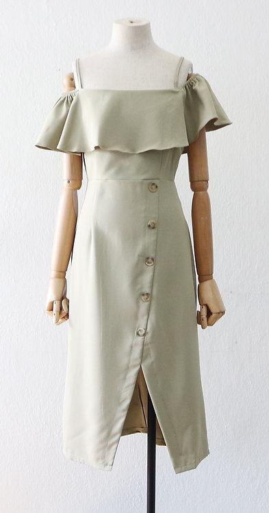 Split button dress