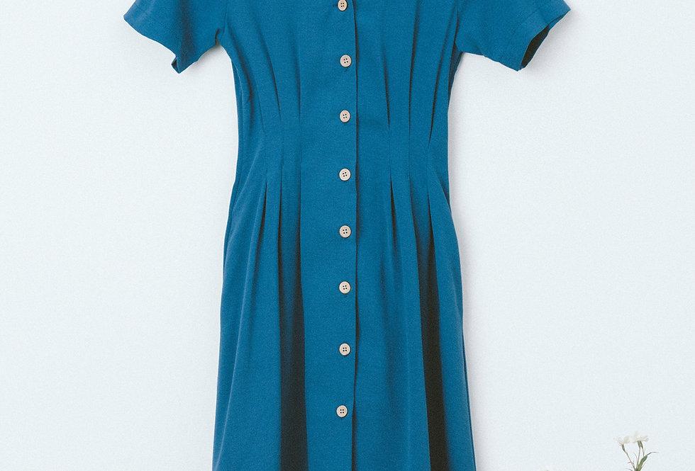 Blue Shirt Waist Dress