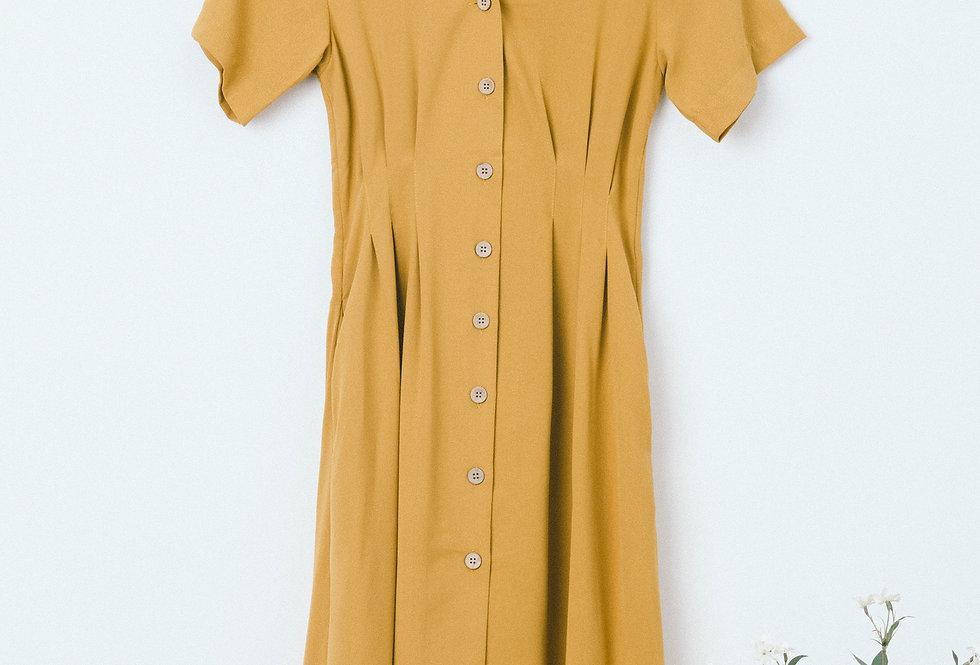 Mustard Shirt Waist Dress