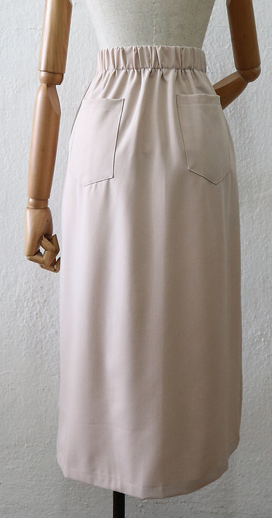 Button front sheath skirt