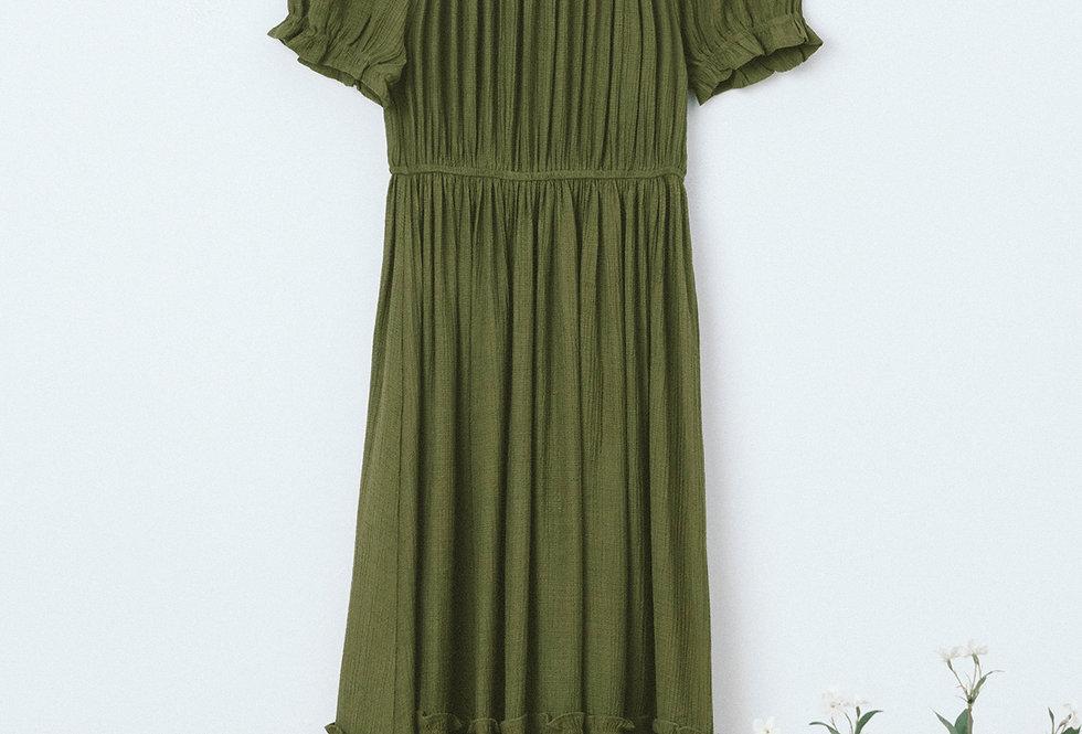 Green Tiered Dress