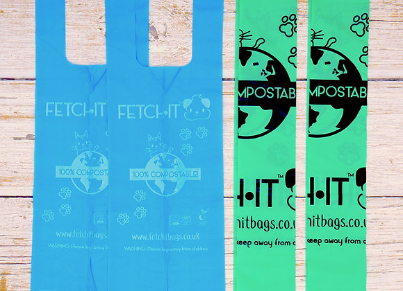 FETCH·IT Poo Bag Samples (2 Ocean Edition, 2 Classic Edition) - FREE DELIVERY
