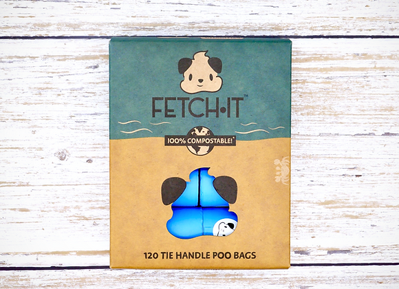 FETCH·IT Compostable Poo Bags With Tie Handle (120 bags)