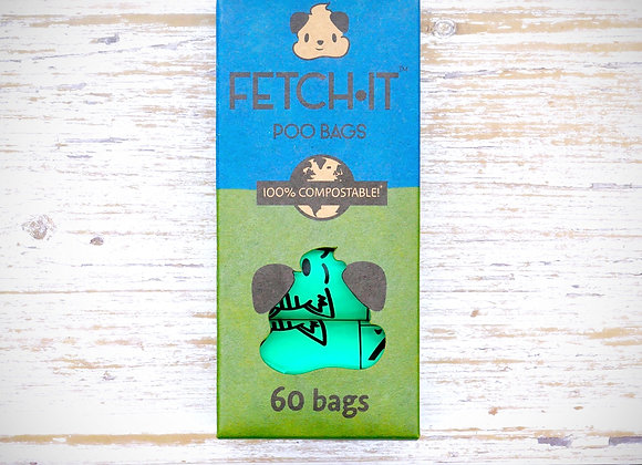 FETCH·IT Compostable Poo Bags (60 Bags)