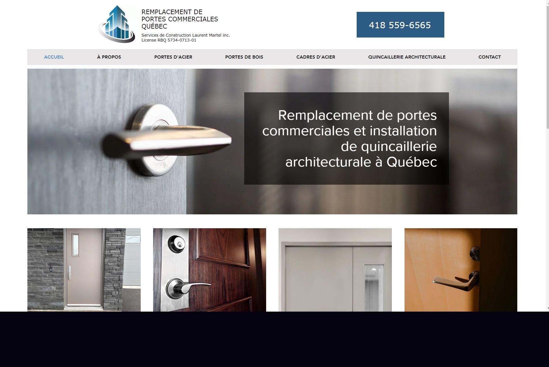 Remplacement de portes commerciales Québec
