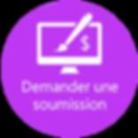 Demander une soumission pour la conception de votre site Web