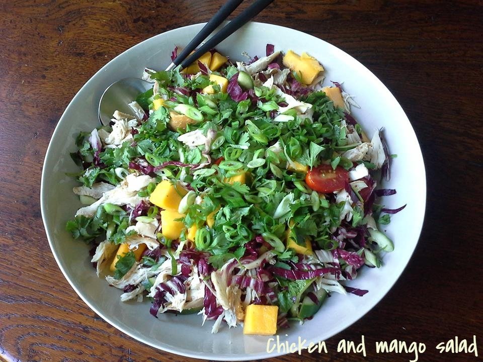 Spicy chicken and mango salad
