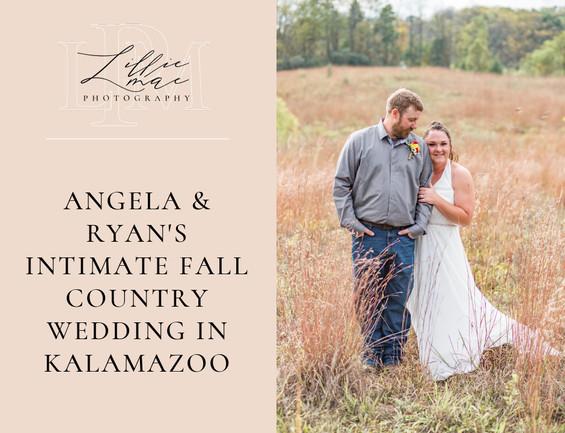 Angela & Ryans Intimate October Wedding in Kalamazoo