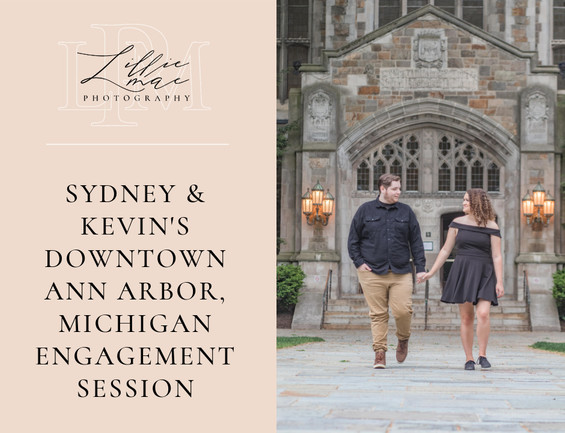 Downtown Ann ARbor Engagement Session with Sydney & Kevin