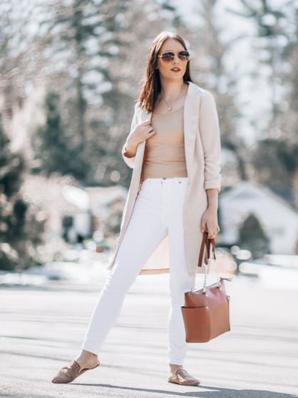 Neutral Spring Transitional Outfit
