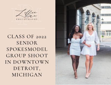 2022 Senior Spokesmodel Group Shoot in Downtown Detroit, Michigan
