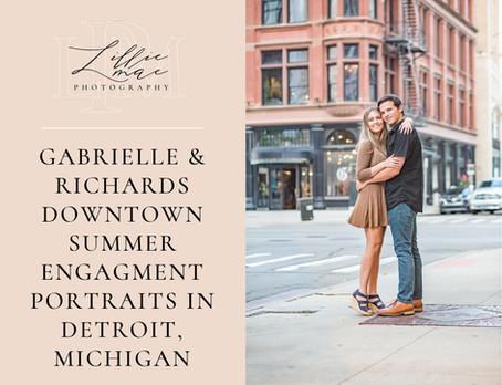 Gabrielle & Richards Downtown Detroit Summer Engagement Session
