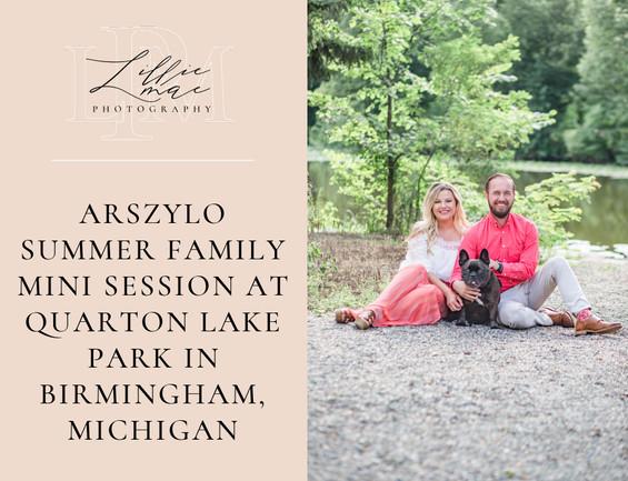 Arszylo Summer Family Mini Session at Quarton Lake Park