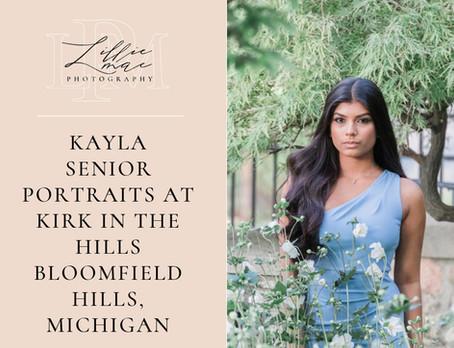 Kayla / Senior Portraits / Michigan Portrait Photographer