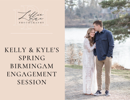Kelly & Kyle's Spring Engagement Session In Birmingham, Michigan