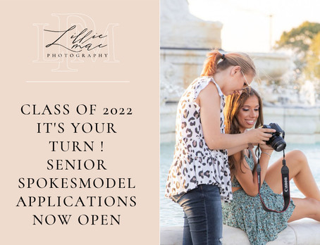 2022 Senior Spokesmodel Applications are now open