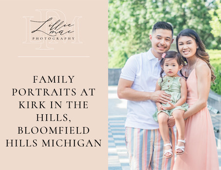 Summer Family Portraits at Kirk in The Hills / Michigan portrait photographer