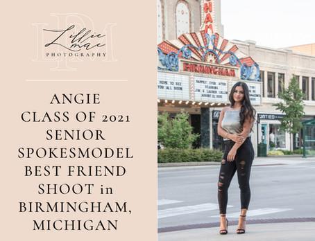 Angie / best friends senior portraits/senior spokesmodel session / michigan portrait photographer