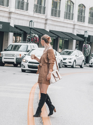 Coffee Pick Me Up & A Must Have Sweater Dress